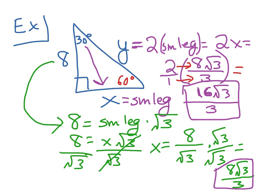 30 60 90 Special Right Triangles