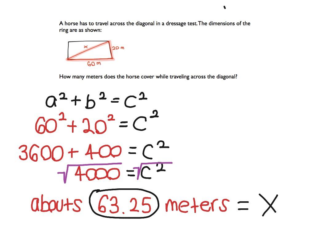 hight resolution of Pythagorean Theorem   Math