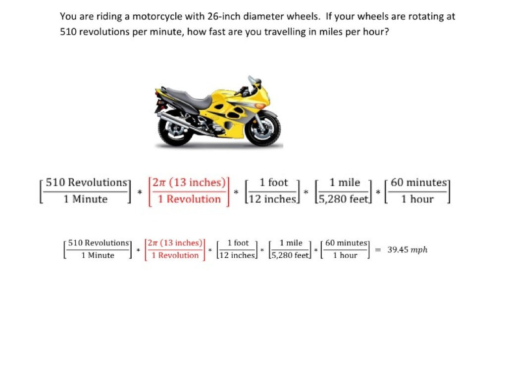 Converting Angular Speed To Linear Speed