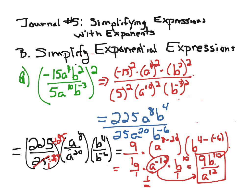 Evaluating Exponents Worksheet