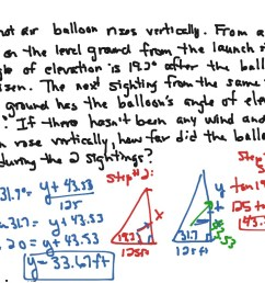 Algebra III Journal #47: Trig. Word Problems   Math [ 768 x 1024 Pixel ]