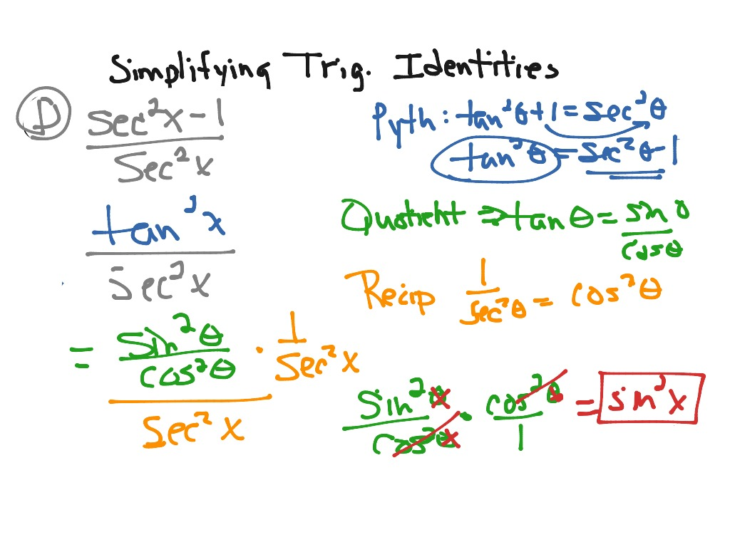 Simplifying Trig Identities