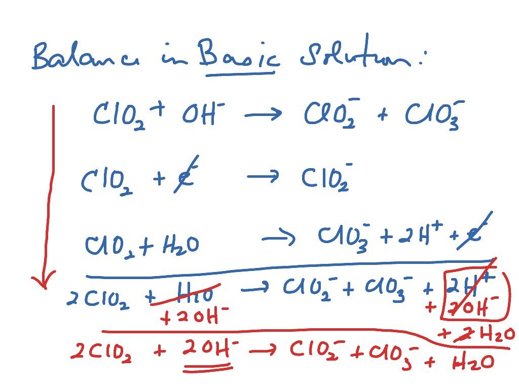 Balance Redox In Basic Solution