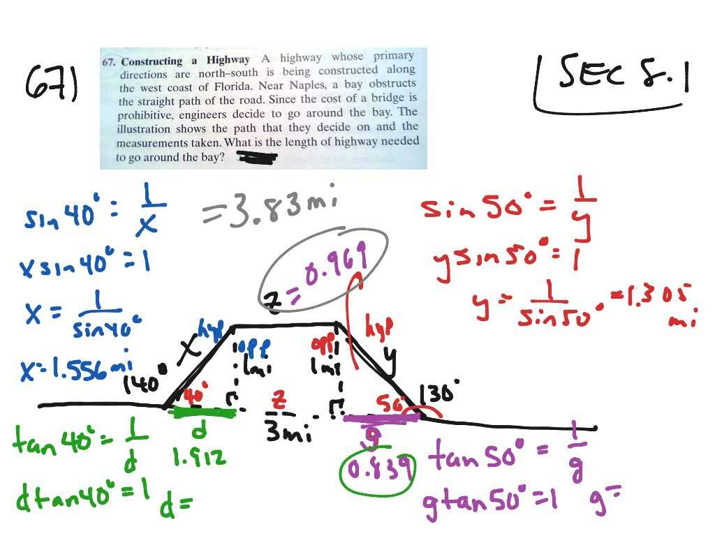 Applications With Right Triangle Trig Including Angles Of