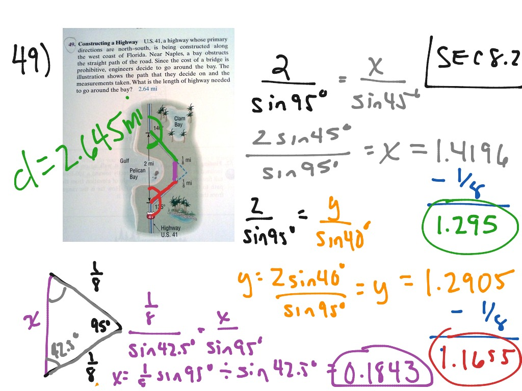 Applications Using Law Of Sines Mac