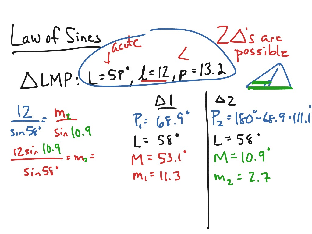 Mac Law Of Sines And The Ambiguous Case