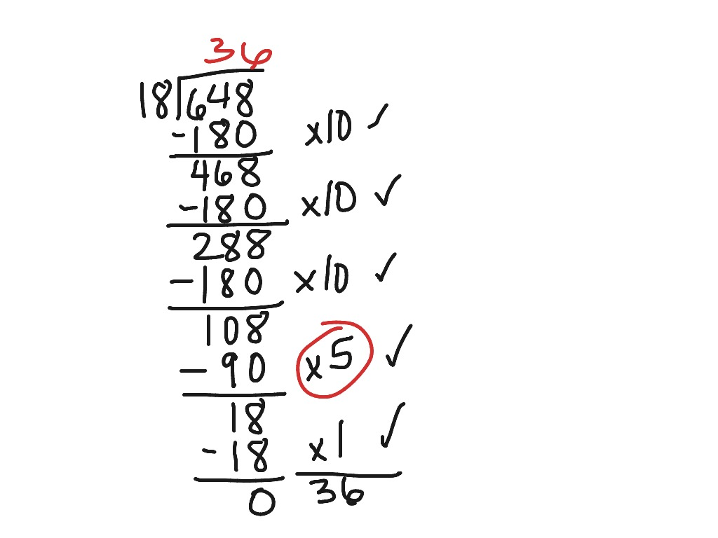 Partial Quotient Long Division