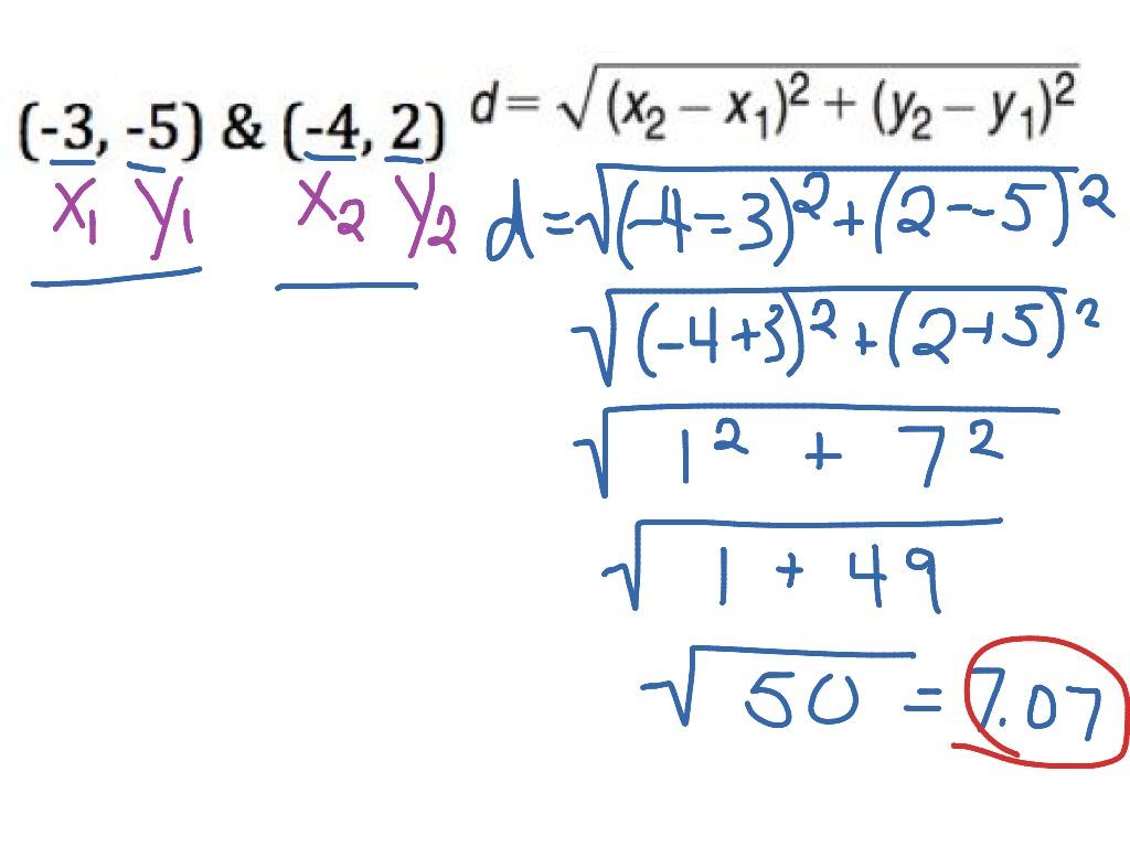Distance Formula Between Two Coordinates