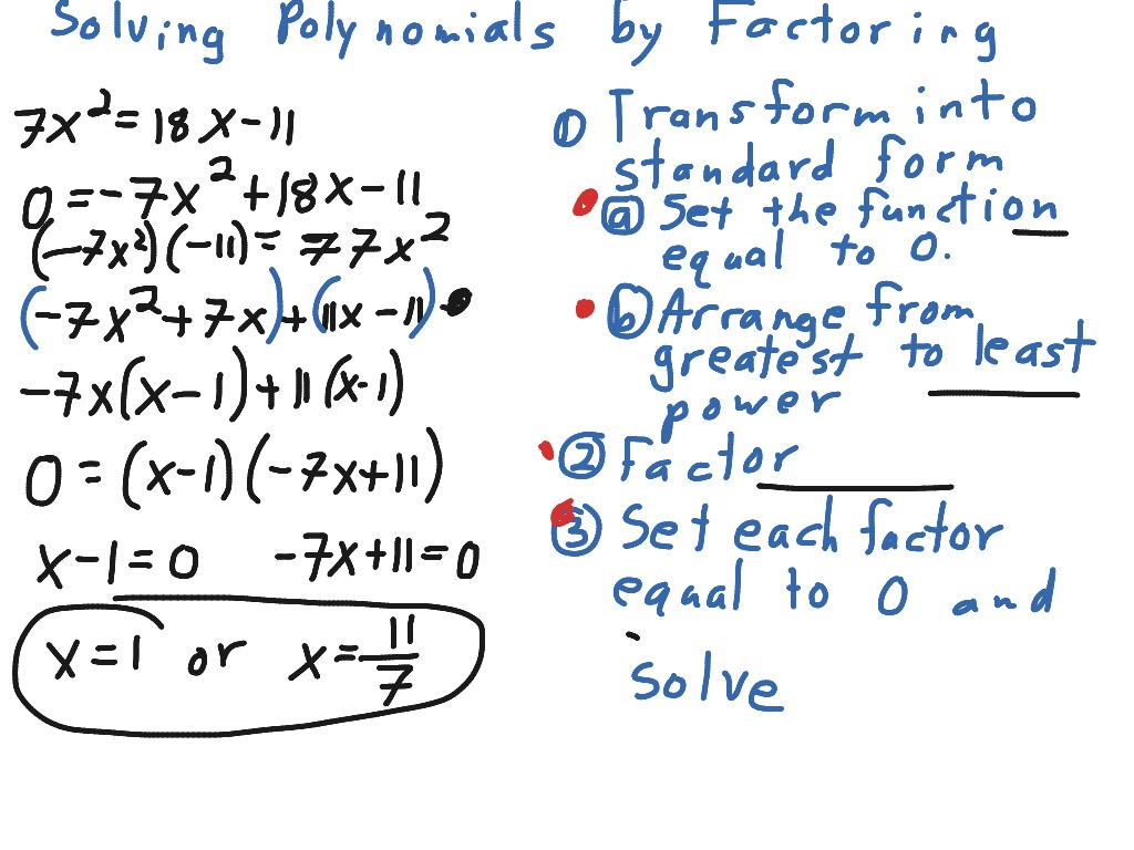How To Solve Polynomial Equations By Factoring