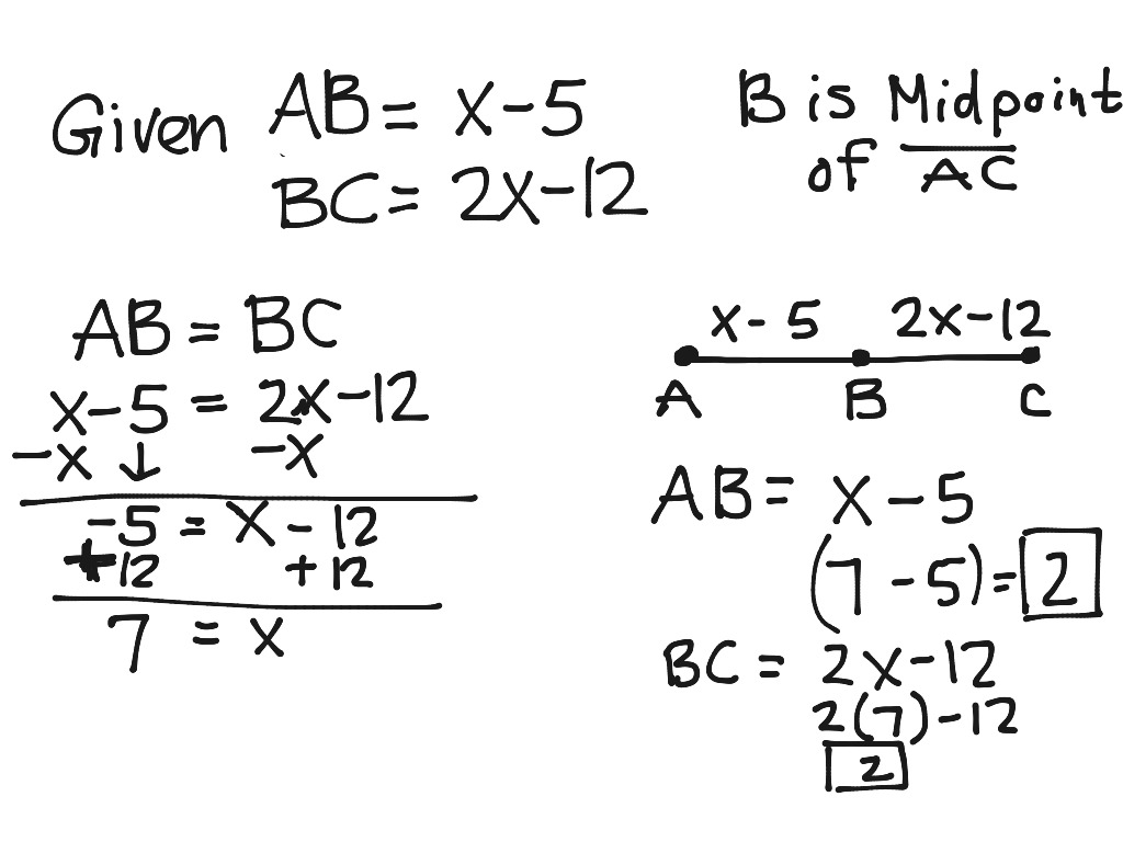 Line Segment With A Midpoint