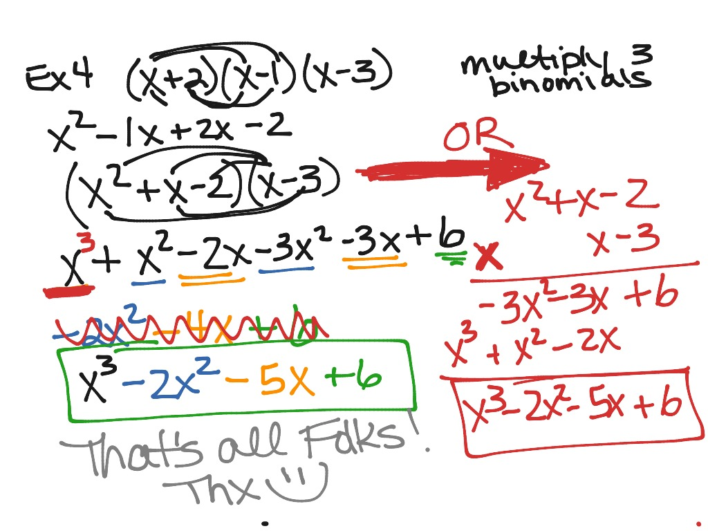4 2 Adding Subtracting And Multiplying Polynomials