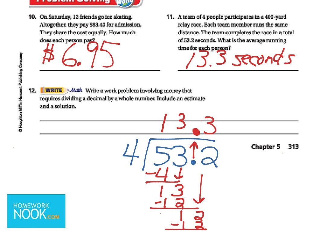 Go Math 5 4 Division By Whole Numbers