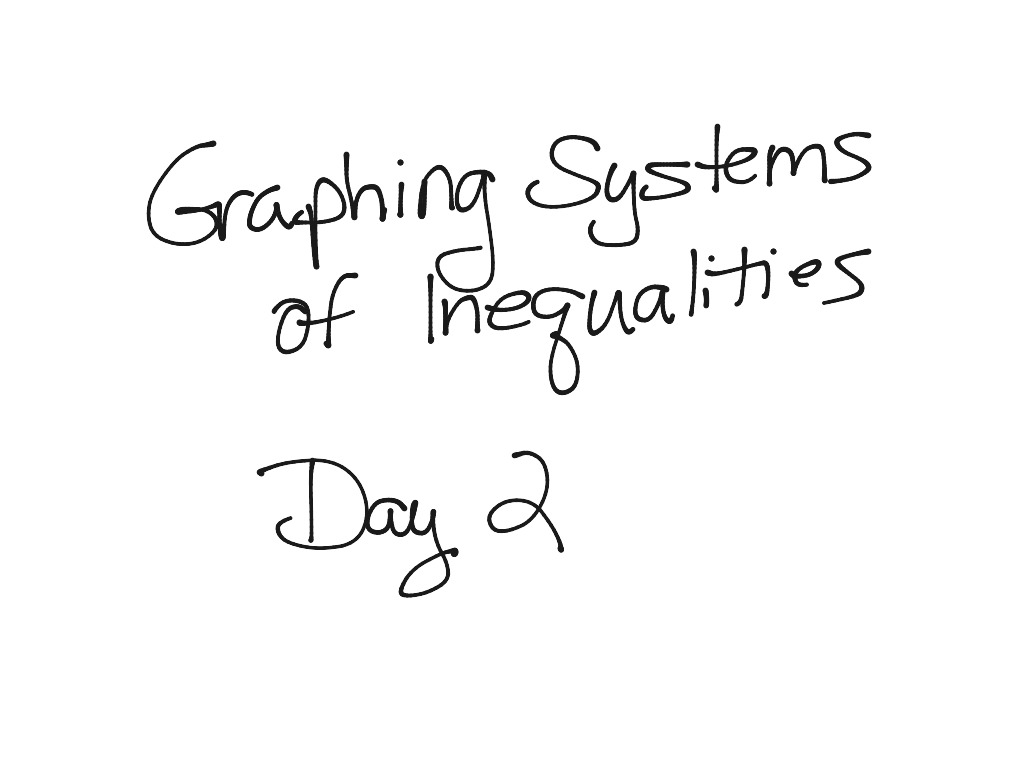 4 12 Graphing Systems Of Inequalities Day 2