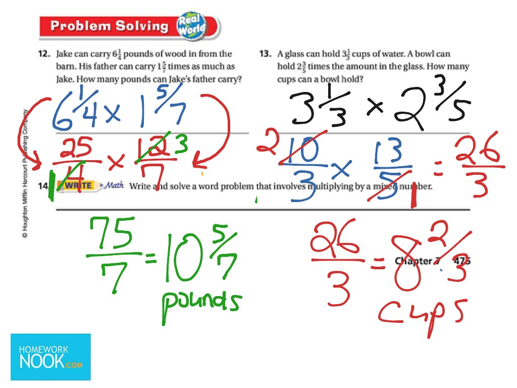 Go Math Lesson 7 9 Multiplying Mixed Numbers