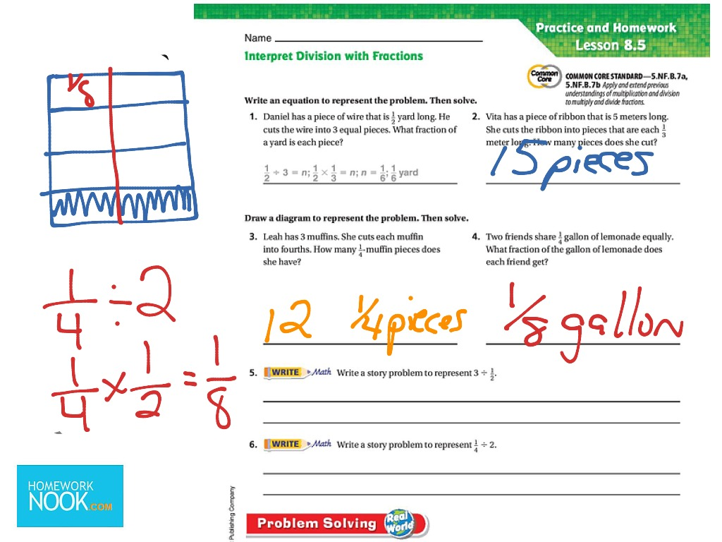 Go Math Lesson 8 5 Division Word Problems