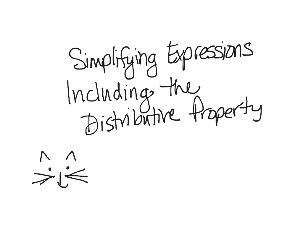 1 4 Simplifying Expressions Including The Distributive