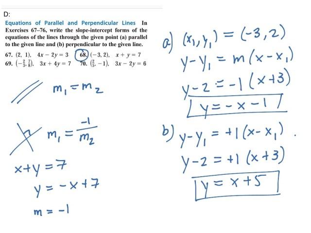 PreC 199.199.D Parallel and Perpendicular Lines  Math, High School