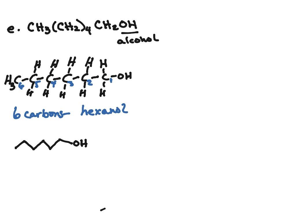 Drawing And Naming Ketones Aldehydes