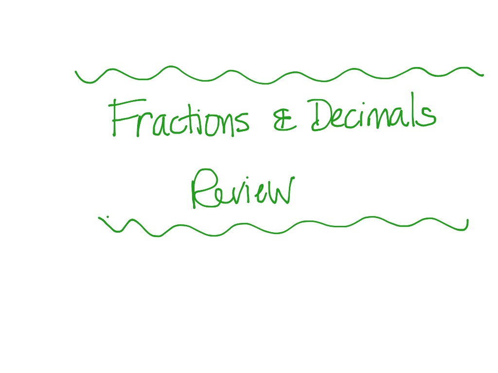 7th Grade Fractions And Decimals Review