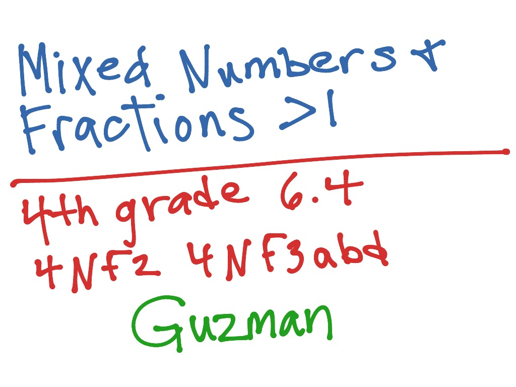 Fractions Greater Than 1