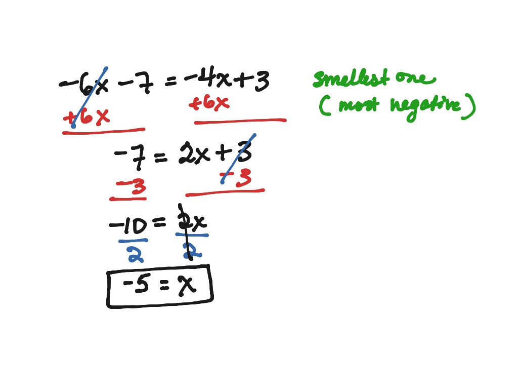 2 4 Day 1 Part 1 Solving With Variables On Both Sides
