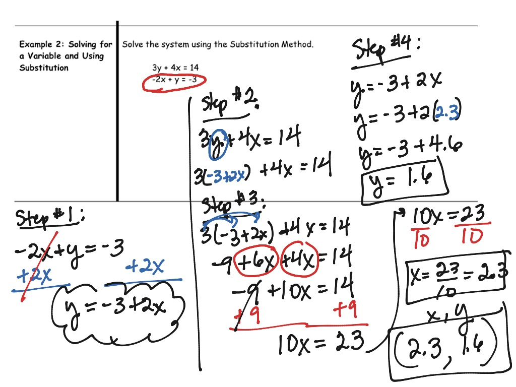 6 2 Solving Systems Of Linear Equations Substitution