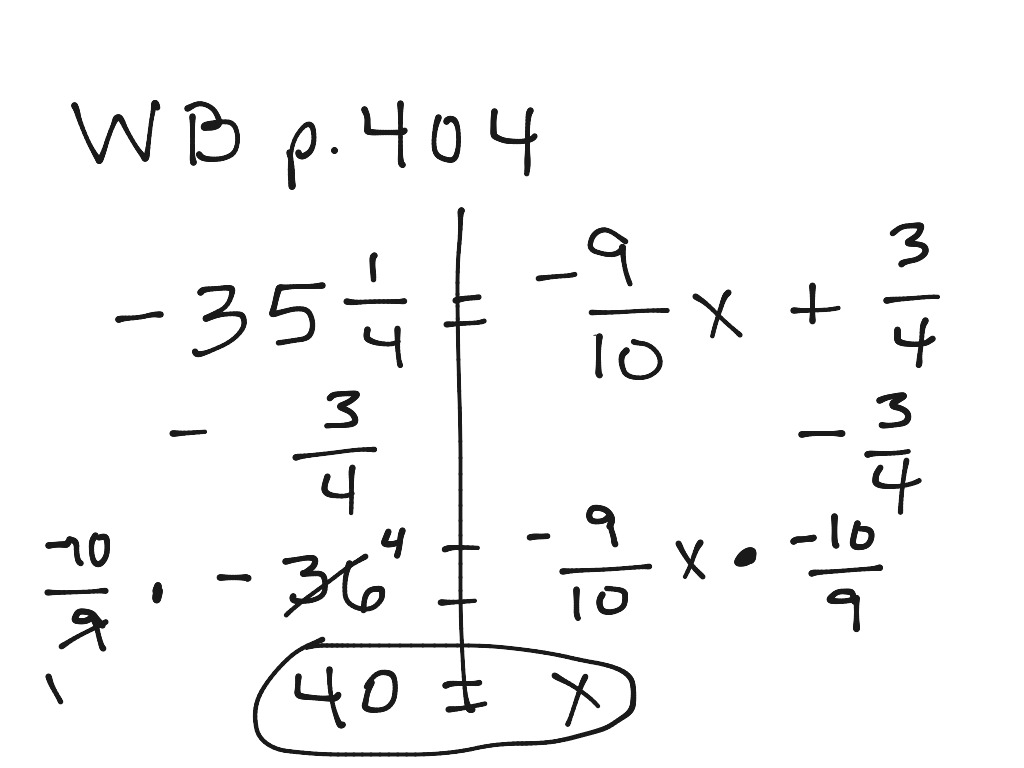 Solving 2 Step Equations With Fractions And Decimals