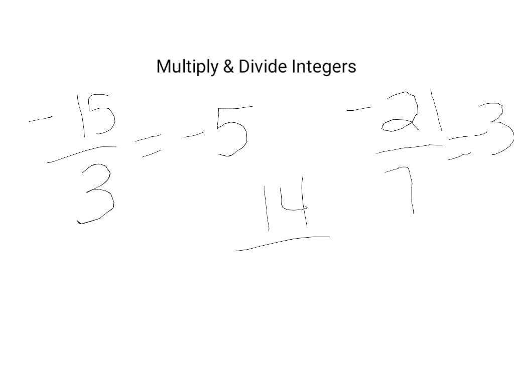 Multiply Amp Divide Integers