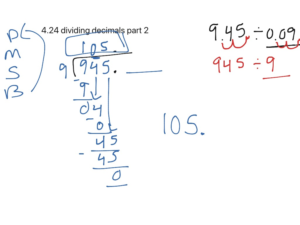 4 24 Dividing Decimals