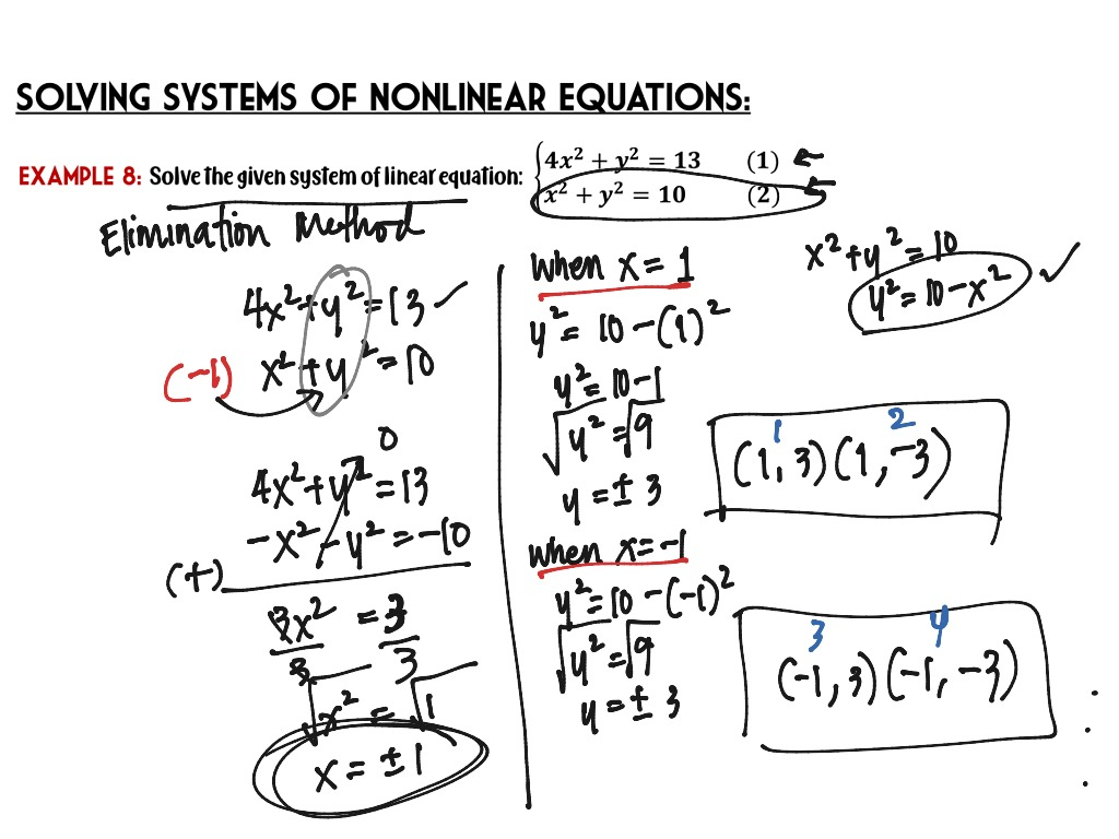 Topic 5 Systems Of Equations Linear And Nonlinear
