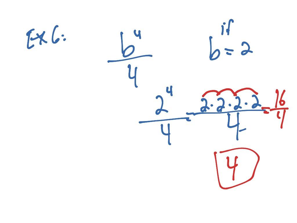 Evaluate Algebraic Expressions
