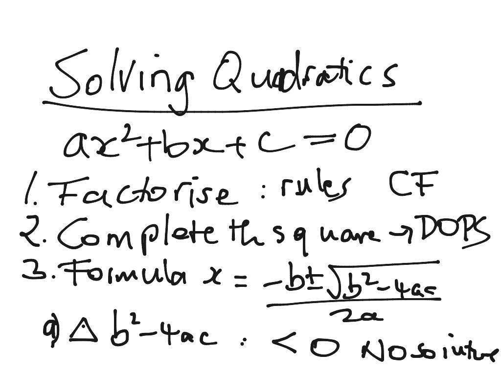 Solving Quadratic