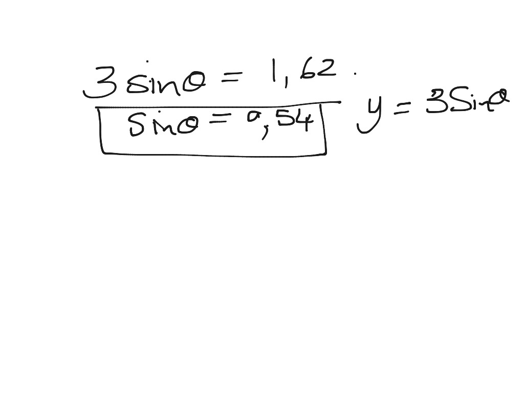 Grade 11 Trig Equations