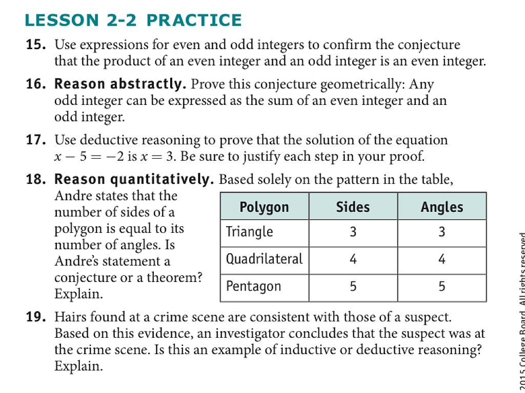 Lesson 2 2 Deductive Reasoning