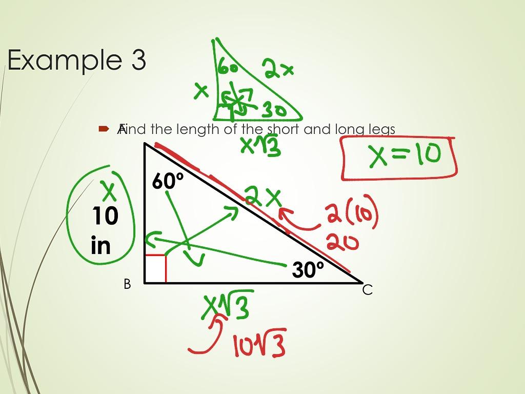 Trigonometry 5 Special Right Triangles 30 60 90