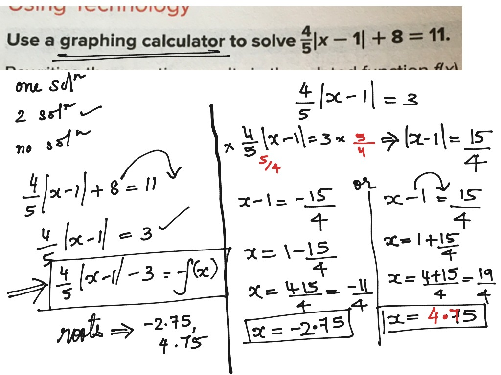 Absolute Value Function 2 Solution Le 2 9