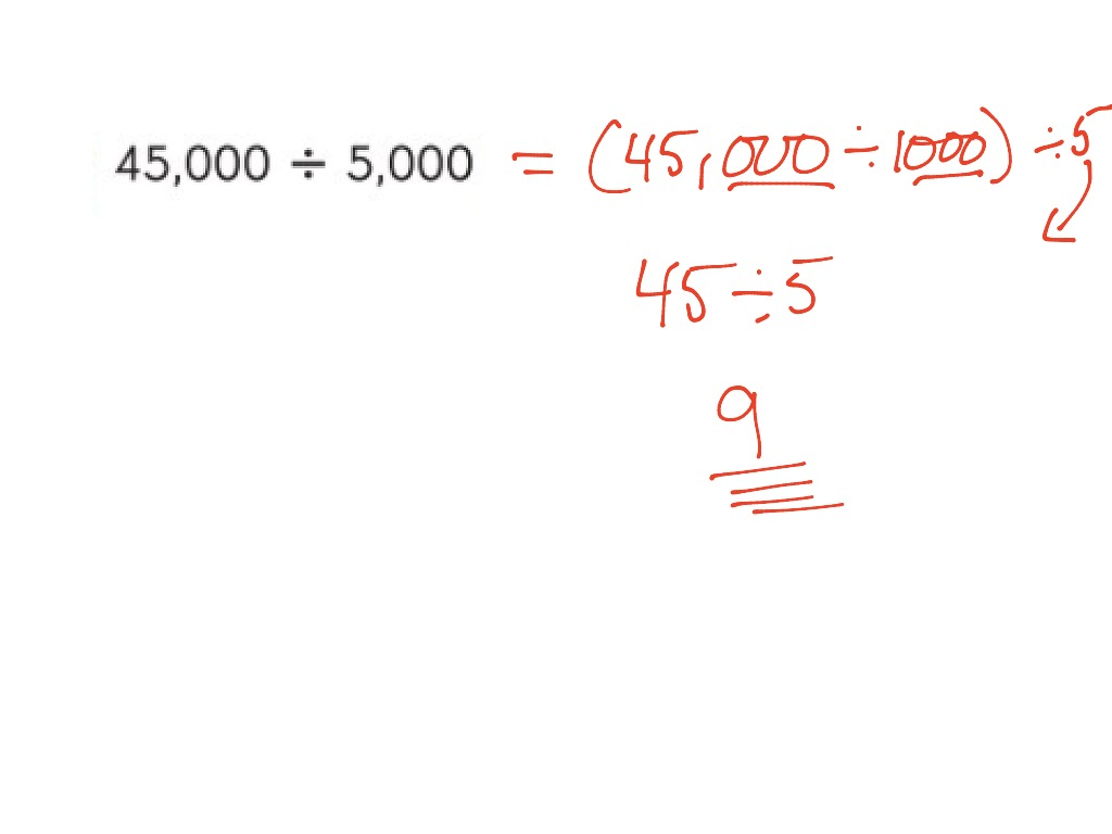 Dividing By Multiples Of 10