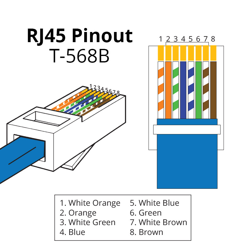 cat5 wiring diagram 568b chicken wing bones rj45 pinout | showmecables.com