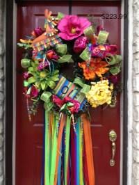 Fiesta Wreath w:donkey and ole sign