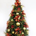 Red And Gold Themed Christmas Trees Novocom Top