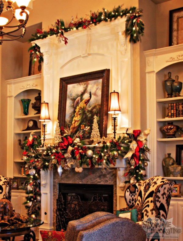 Christmas Decorating Mantels with Garland
