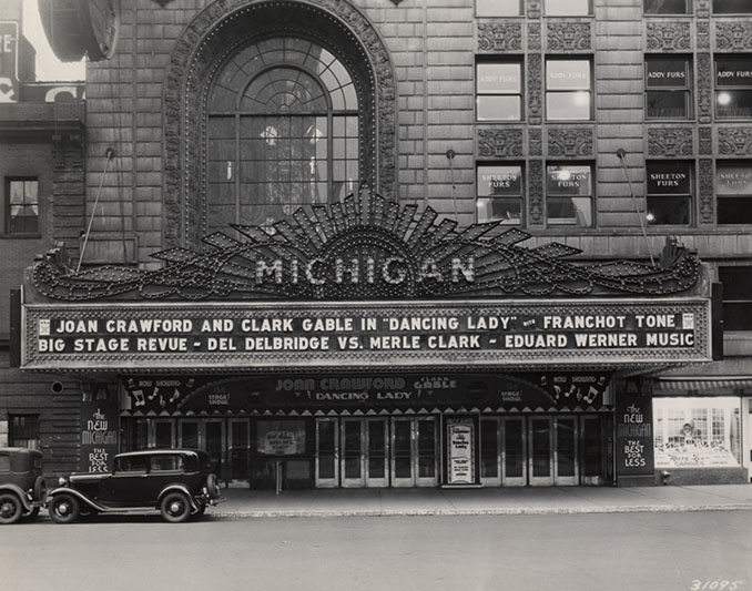 Detroits Historic Michigan Theater  Then and Now  Show Me Detroit Tours