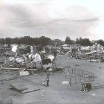 "alt=""tornado causes destruction carnival midway"""