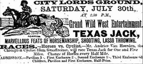"""alt="""" Wild West  Show Texas Jack"""""""
