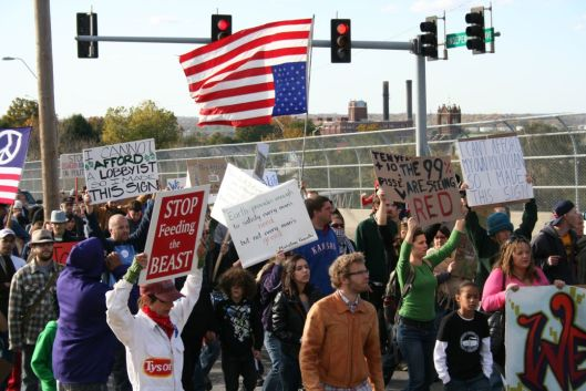 Occupy KC protest march, October 2011.