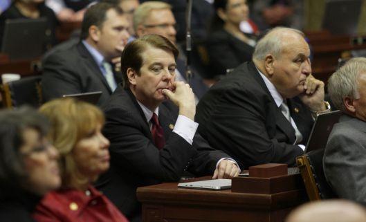 Representative Dean Dohrman (r) on the floor of the House.