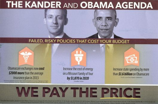 """The """"B"""" side of an Americans for Prosperity funded mail piece attacking Jason Kander (D)."""