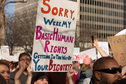 Getting in the way of your bigotry?