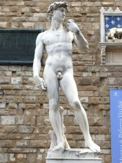 Florence - The famous 'David' by Michelangelo