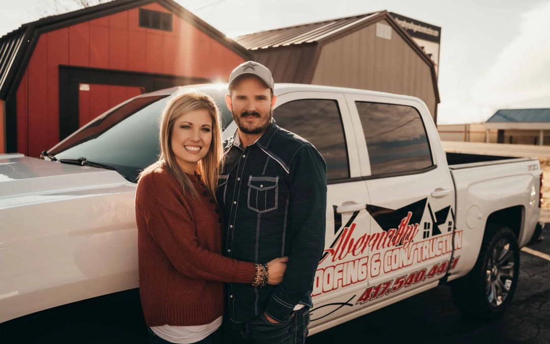 Love in the Workplace Jon and Sarah Abernathy  Abernathy Roofing & Construction